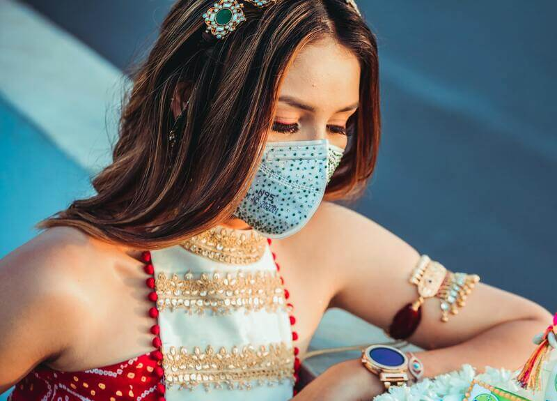 Decorate a Blank Face Mask - Image 1