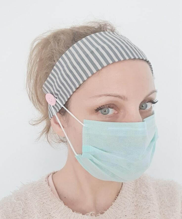 How to Turn Your Headband Into a Face Mask - Image 3