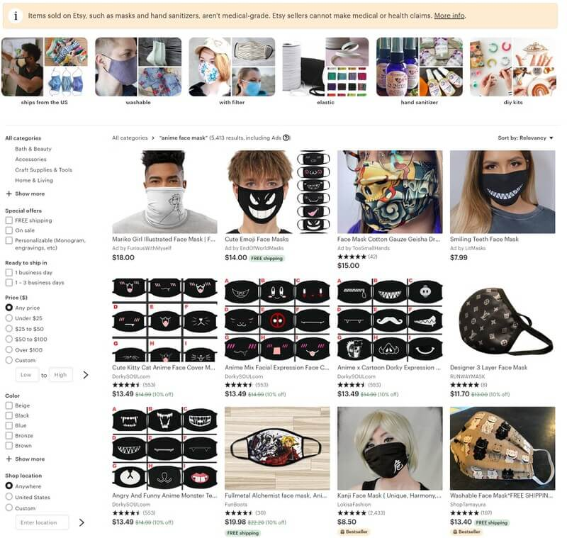 Where To Find An Anime Face Mask Online Face Masks Guides
